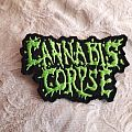 Cannabis Corpse back Shaped logo patch
