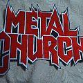 Metal Church back shaped logo patch