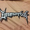 Immortal back Shaped logo patch