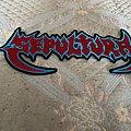 Sepultura - Patch - Sepultura back logo patch