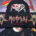 Midnight- Black Rock N' Roll Strip Woven Patch