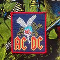 AC/DC - Fly On The Wall Woven Patch (w/red border)