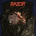 RAZOR Malicious Intent Leather Vest Painting