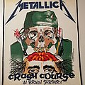 Metallica - Crash Course in Brain Surgery - Backpatch - 1987
