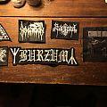 Unused black metal / punk patches