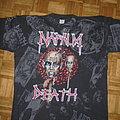 Napalm Death - Hooded Top - Napalm Death European Tour 1994 Allover-print  size:XL   MINT!