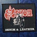 Saxon - Patch - Saxon - Denim and Leather Mini Backpatch