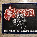 Saxon - Patch - Saxon - Denim and Leather mini back patch