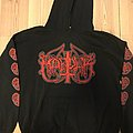 Marduk - Red logo hooded sweatshirt