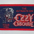 Ozzy Osbourne - The ultimate sin - Tour Woven Patch