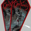 Obituary - Coffin shape woven patch