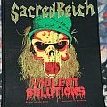 Sacred Reich - Violent solutions - Backpatch