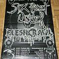 Six Feet Under / Fleshcrawl - Torture tour 2001 - Tourposter