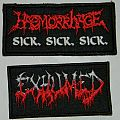 Haemorrhage / Exhumed - Embroidered patches