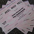 Other Collectable - Axel rudi pell concert tickets x5