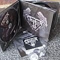 Other Collectable - Asphyx - death hammer buttons and c.d