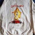 "Satyricon ""Mot Kvitekrist.."" ultra rare white sweatshirt"