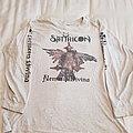 """Satyricon """"Nemesis Divina"""" white longsleeve 1996 moonfog print"""