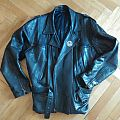 Massive leather jacket with handpainted Dead Congregation...
