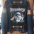Megadeth + Maiden tribute denim jacket