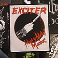 "Exciter ""Heavy Metal Maniac"" woven patch"
