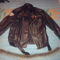 Black/Speed Metal Leather Jacket