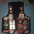 My leather battle jacket in progress