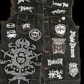 Start of a black & white vest