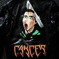 Cancer: To the Gorey End hand painted on leather Battle Jacket