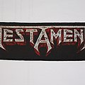 Testament - Red logo super strip patch