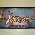 Venom - Welcome to hell embroidered big leather strip patch