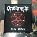 """Onslaught - Patch - Onslaught """"The Force"""" vintage woven patch"""