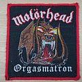 Motorhead - Orgasmatron red border for toxikdeath06 Patch