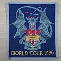 "Dio ""World tour 1986"" grey border patch"