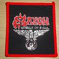 "Saxon ""Wheels of steel"" vintage patch"