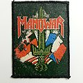 """Vintage Manowar """"Sword"""" synthetic Leather Patch"""