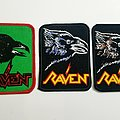 Vintage RAVEN Printed patches 80's
