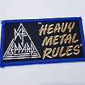 """Vintage DEF LEPPARD """"Heavy Metal Rules""""  Patch"""