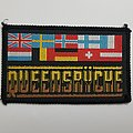 Queensryche  Vintage Woven Patch Euro flags