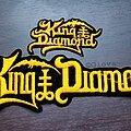 King Diamond - Patch - Vtg King Diamond 'Fatal Portrait era Logo'
