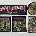 Iron Maiden - Patch - Vtg Iron Maiden 'Piece of Mind set'