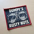 Dumpy's Rusty Nuts - Patch - Or Vtg Dumpy's Rusty Nuts 'Somewhere in England'