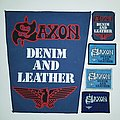 SAXON  Denim and Leather/full versions Patch