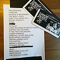 Napalm Death - Setlist from the Campaign For Musical Destruction Tour  Other Collectable