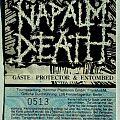 NAPALM DEATH - Harmony Corruption Tour 1990 (ticket)