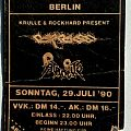 Carcass - Other Collectable - CARCASS / ATROCITY - Symphonies Of Blue Blood Tour 1990 (ticket)