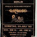CARCASS / ATROCITY - Symphonies Of Blue Blood Tour 1990 (ticket)