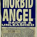 MORBID ANGEL - Jesus Wept Tour 1991 (ticket)