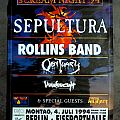 Sepultura - Other Collectable - SEPULTURA - Chaos AD Scream Night '94