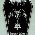 Hellhammer - Patch - HELLHAMMER - Satanic Rites (embroidered, coffin)